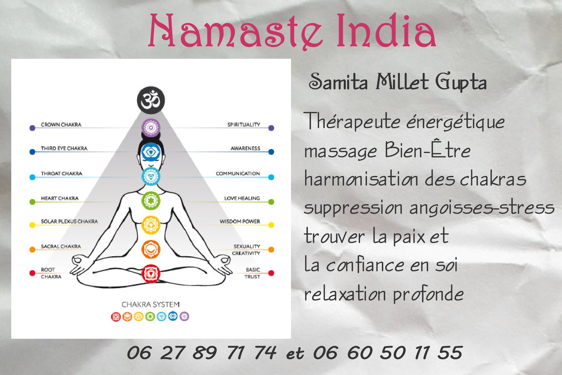 logo NAMASTE INDIA salon bien etre plaisance du touch